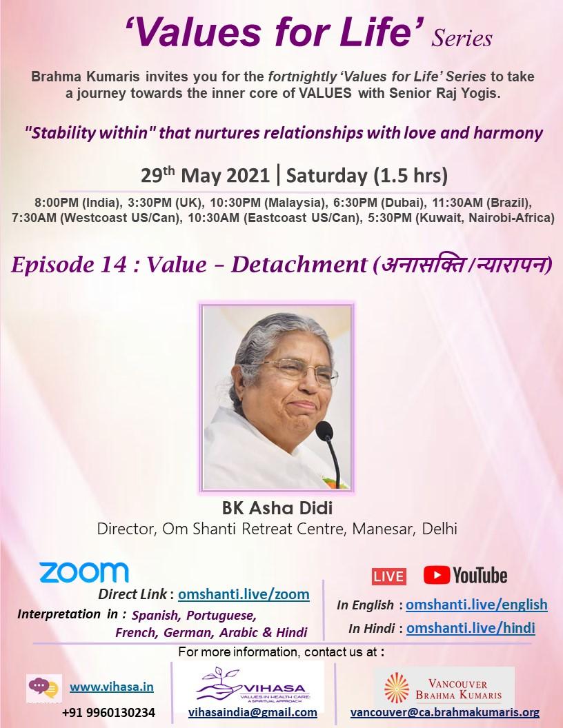 Values for Life Series | Ep: 14 | Detachment
