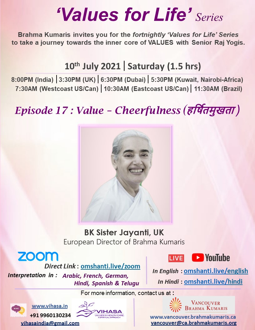 Values for Life Series   Ep: 17   Value - Cheerfulness