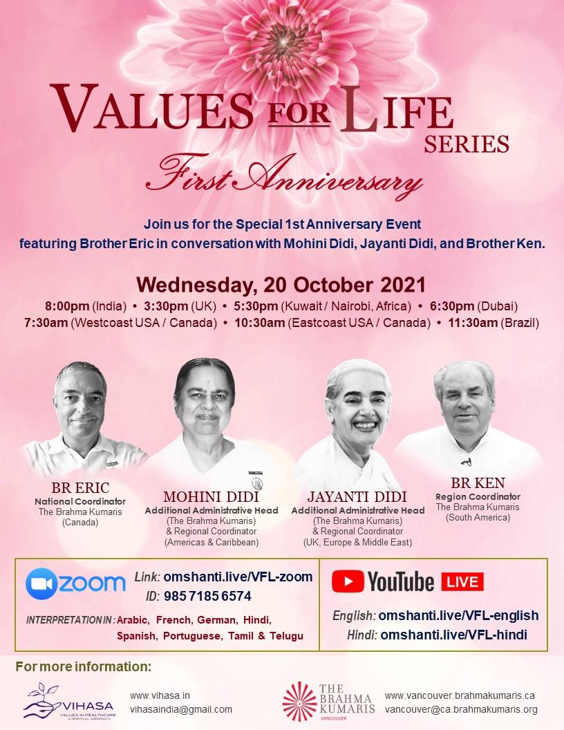 Values for Life   1st Anniversary Celebration   World Values Day